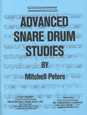 Mitchell Peters - Advanced Snare Drum Studies - Partition - di-arezzo.fr