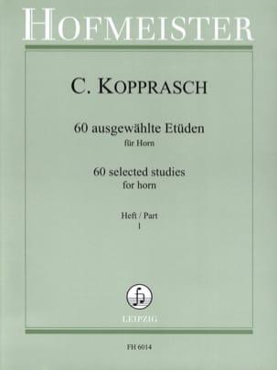 Georg Kopprasch - 60 Ausgewählte Etüden Für Horn Heft 1 - Sheet Music - di-arezzo.co.uk