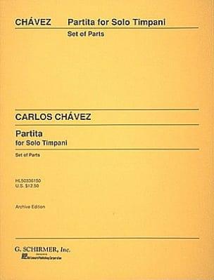 Carlos Chavez - Partita For Solo Timpani - Partition - di-arezzo.fr