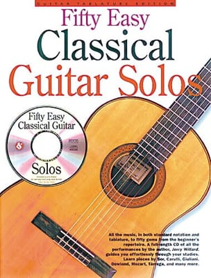 Fifty Easy Classical Guitare Solos Partition Guitare - laflutedepan