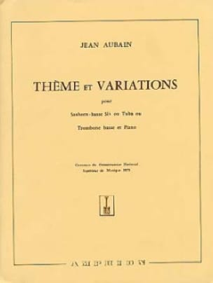Jean Aubain - Theme and Variations - Sheet Music - di-arezzo.com