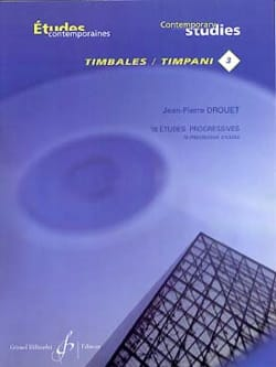 Jean-Pierre Drouet - 18 Progressive Studies - Contemporary Timpani Studies 3 - Sheet Music - di-arezzo.co.uk