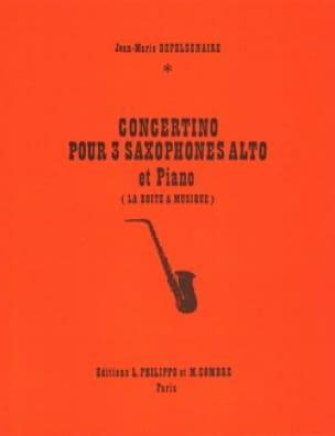 Jean-Marie Depelsenaire - Concertino - Partition - di-arezzo.fr