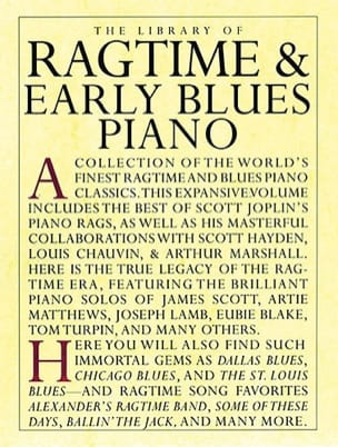 - Library Of Ragtime - Early Blues Piano - Sheet Music - di-arezzo.co.uk