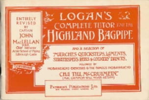 Logan's Complete Tutor For The Highland Bagpipe Logan laflutedepan