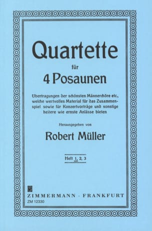 Robert Müller - Quartette Volume 1 - Partition - di-arezzo.fr
