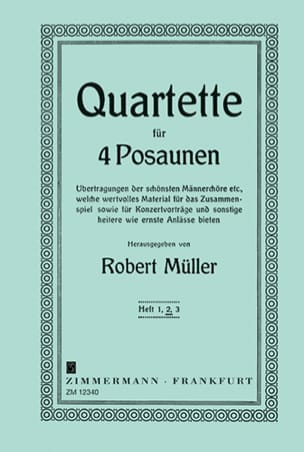 Robert Müller - Quartette Volume 2 - Partition - di-arezzo.fr