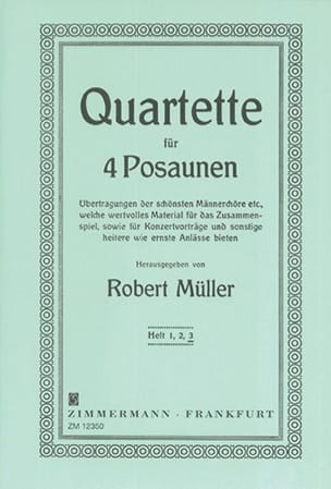 Robert Müller - Quartet Volume 3 - Sheet Music - di-arezzo.co.uk