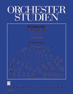 Orchester Studien STRAVINSKY Partition Trombone - laflutedepan