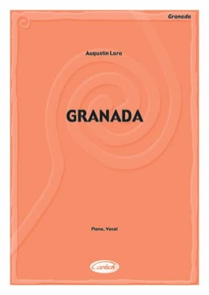 Agustin Lara - Granada - Sheet Music - di-arezzo.co.uk