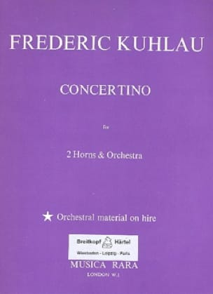 Friedrich Kuhlau - Concertino - Sheet Music - di-arezzo.com