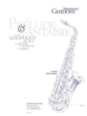 Armando Ghidoni - Prelude - Fantasy - Sheet Music - di-arezzo.co.uk