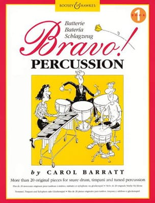 Bravo Percussion Volume 1 Carol Barratt Partition laflutedepan