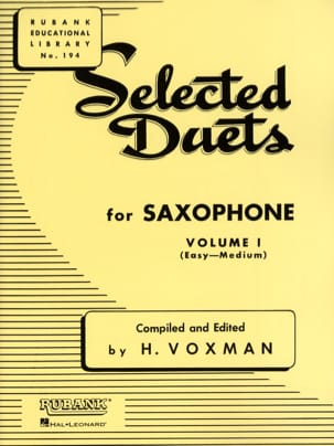 Voxman - Selected Duets Volume 1 - Partition - di-arezzo.fr