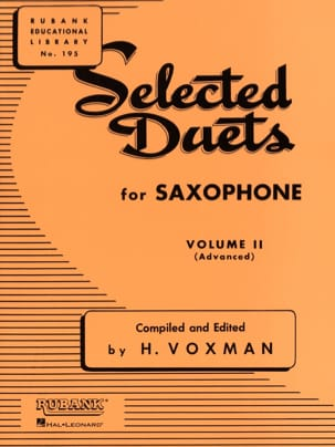 Selected Duets Volume 2 Voxman Partition Saxophone - laflutedepan