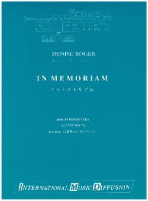 Denise Roger - In Memoriam - Partition - di-arezzo.fr