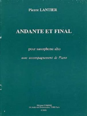 Pierre Lantier - Andante et Final - Partition - di-arezzo.fr