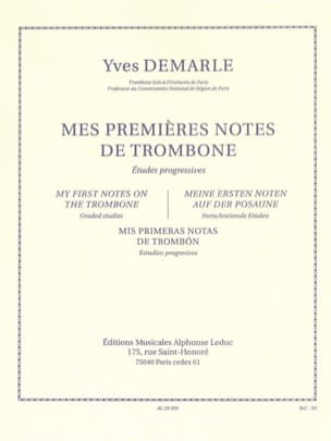 Yves Demarle - My First Trombone Notes - Sheet Music - di-arezzo.co.uk