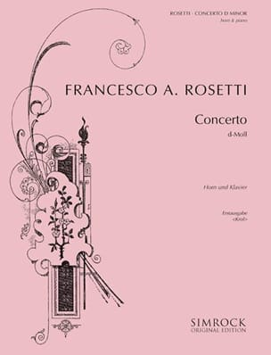 Francesco Antonio Rosetti - Concerto en D Minor - Partition - di-arezzo.fr