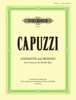 Andante And Rondo Antonio Capuzzi Partition Tuba - laflutedepan