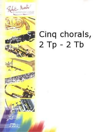 Cinq Chorals BACH Partition Ensemble de cuivres - laflutedepan