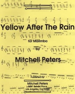 Mitchell Peters - Yellow After The Rain - Sheet Music - di-arezzo.com