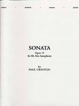 Sonata Opus 19 Paul Creston Partition Saxophone - laflutedepan