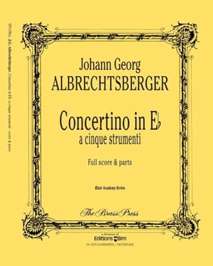 Johann Georg Albrechtsberger - Concertino In Eb - Partition - di-arezzo.fr