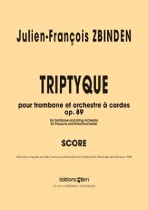 Julien-François Zbinden - Triptyque Opus 89 - Partition - di-arezzo.fr