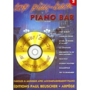 - Top Play-Back Piano Bar Volume 2 - Partition - di-arezzo.fr