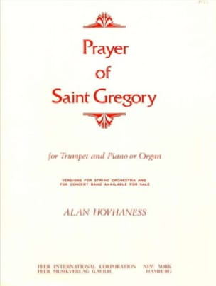 Alan Hovhaness - Prayer Of Saint Gregory - Partition - di-arezzo.fr