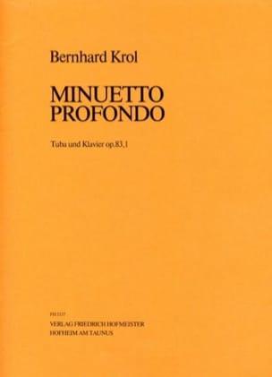 Bernhard Krol - Minuetto Profondo Opus 83,1 - Partition - di-arezzo.fr