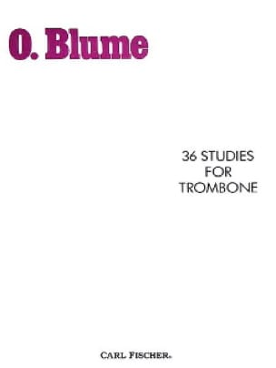 O. Blume - 36 Studies For Trombone - Partition - di-arezzo.fr