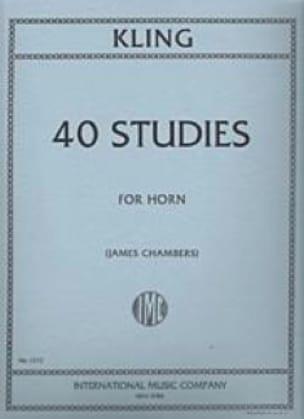 40 Studies - Henri Kling - Partition - Cor - laflutedepan.com