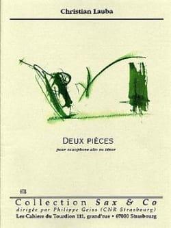 Christian Lauba - Deux Pièces - Partition - di-arezzo.fr