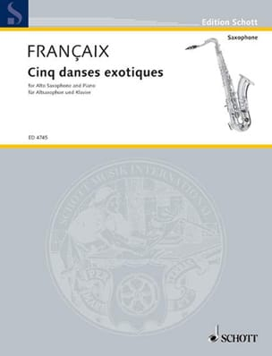 Jean Françaix - Five Exotic Dances - Sheet Music - di-arezzo.com