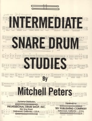 Mitchell Peters - Intermediate Snare Drum Studies - Partition - di-arezzo.fr