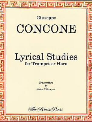 Lyrical Studies Giuseppe Concone Partition Trompette - laflutedepan