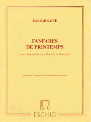 Fanfares de Printemps - Elsa Barraine - Partition - laflutedepan.com