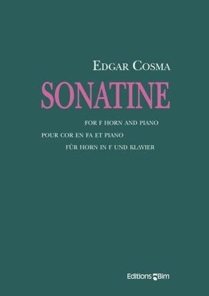Sonatine Edgar Cosma Partition Cor - laflutedepan