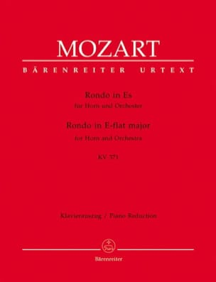 Wolfgang Amadeus Mozart - Rondo In Es KV 371 - Partition - di-arezzo.fr