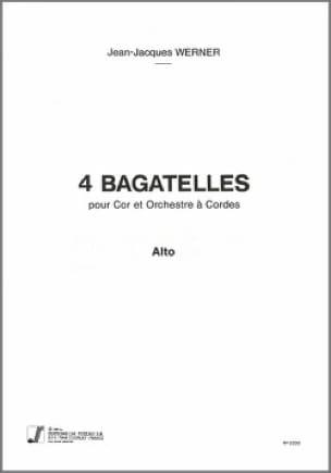 4 Bagatelles - Jean-Jacques Werner - Partition - laflutedepan.com