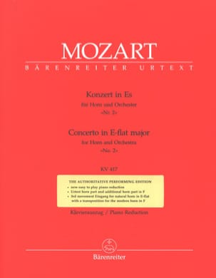 MOZART - Concerto No. 2 In E Flat Mj KV 417 - Sheet Music - di-arezzo.co.uk