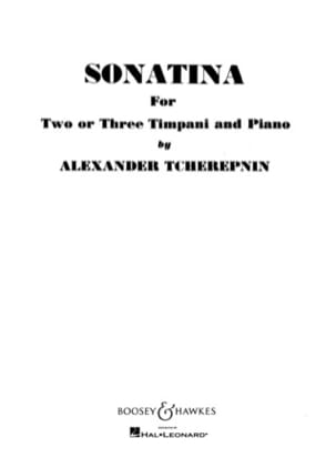 Sonatina Alexander Tcherepnin Partition Timbales - laflutedepan