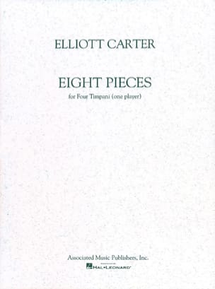 8 Pieces - Elliott Carter - Partition - Timbales - laflutedepan.com