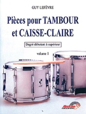 Guy Lefèvre - Parts for drum and snare drum volume 1 - Sheet Music - di-arezzo.com