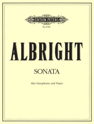 William Albright - Sonata - Partition - di-arezzo.fr