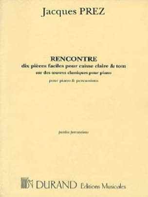 Jacques Prez - Rencontre Piano-Percussion - Partition - di-arezzo.fr