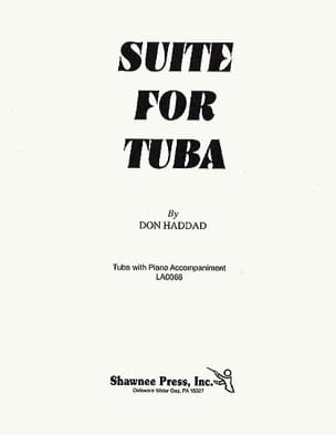 Suite For Tuba Don Haddad Partition Tuba - laflutedepan