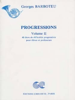 Georges Barboteu - Volume 2 Progressions - Sheet Music - di-arezzo.co.uk